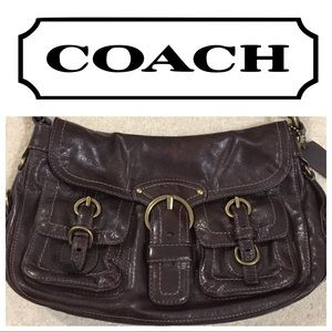 Coach Handbag, Brown Leather, Excellent Condition